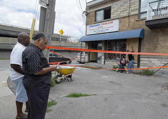 Montreal police were investigating a suspicious fire Monday July 2, 2012 that caused significant damage at Montreal radio station CPAM, which is popular with the city's Haitian community.