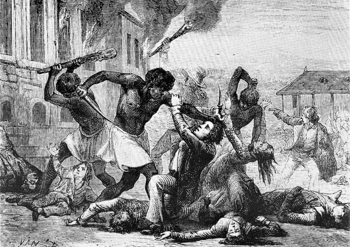 Civil war erupts in the french colony of st domingue a caribbean